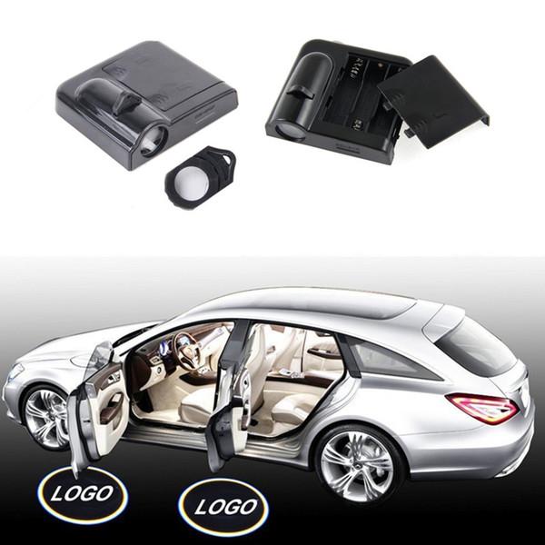 1 çift LED Araba Kapı Hoşgeldiniz Logo Işık Araba Marka Gölge Işık Lexus Audi A1 için A4 A3