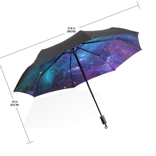 2bb4805902f9 2019 2017 UV Sun Protection Umbrellas Sky 3 Folding Parasols Umbrella Rain  Women Starry Sky Dreamlike Umbrella From Tim2012, $45.28 | DHgate.Com