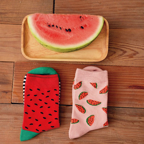 Life Female And Male Food  Sushi Watermelon Short Tube Socks Cotton Socks