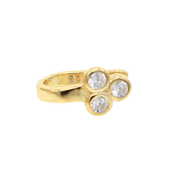 News Punk Girl crystal Imitation leaf clover Ear Cuff Clip Earrings For Women Wedding tiny decliate wedding cute earring Jewelry