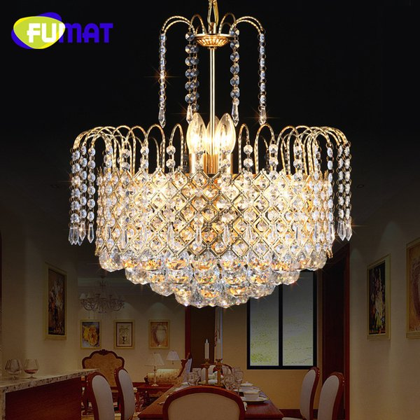 Classic Gold Luxury Crystal Chandeliers with Elegant K9 Crystals for Christmas Living Room Decoration