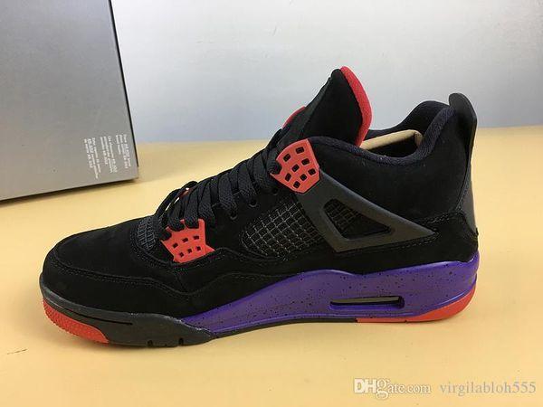 Самые горячие 4 NRG Raptors Баскетбольная обувь для человека Черный университет Красный суд Фиолетовый резиновый подошва Атлетические кроссовки с коробкой AQ3816-056