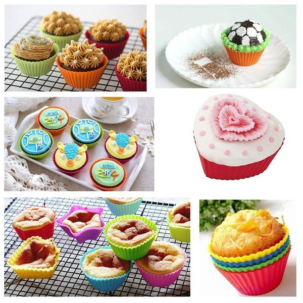 Flower And Pentagram Shape Silicone Kitchen Cake Cup Chaocolate Cookies baking tool kitchen tools Easy To Wash And No Stick