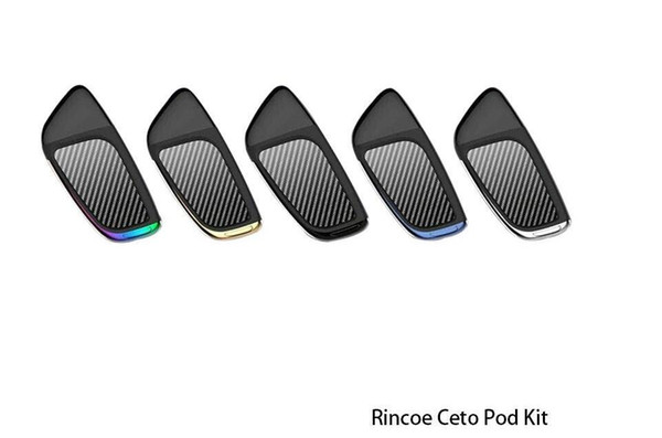 Authentic Rincoe Ceto Pod Kit With 2ml Capacity 370mAh Built-in Battery Features a LED battery indicator