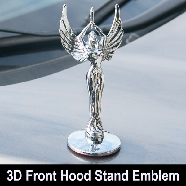 Styling Car Statue of Liberty Front Bonnet Badge Eagle Base Hood Stand Emblem Beauty Sticker for Toyota Coralla Crown Camry Civic for VW