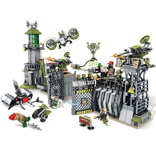 Black gold plan camp defenses strong peripheral vigilance assembled building blocks children's educational toys