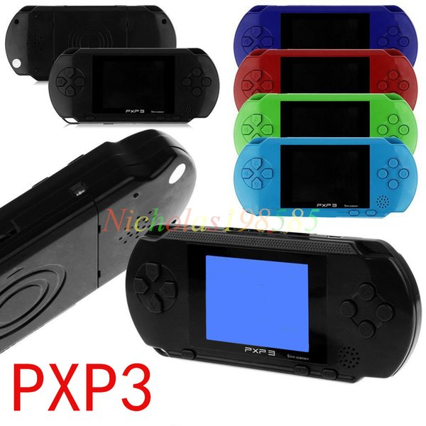 Factory Wholesale Mini Portable PXP3 16 Bit PVP 8Bit Game Video Console TV-Out Games Slim Station Gaming Console Player Child Xmas Best Gift