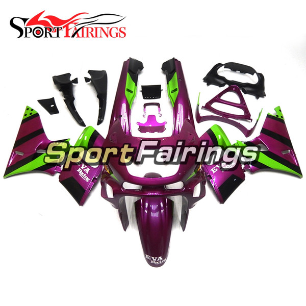 Motorcycles Pure Purple Green Complete Fairing Kit For Kawasaki ZZR-400 1993 - 2007 05 06 02 05 ZZR-400 93 94 97 Body Kit Cowlings