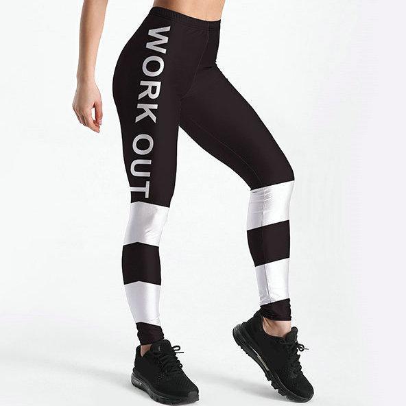 Trabalhar fora calças listra preta branca apertado magro Agradável elasticidade ginásio mulher roupas Esporte desgaste Fitness sportwear Calças de exercício