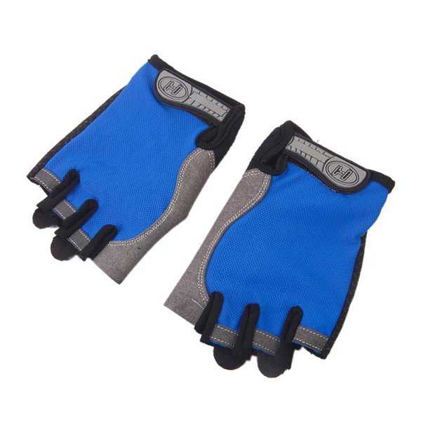 Thin Outdoor Sports Bike Cycling Gloves Anti skid Pad Half Finger Breathable Fitness Gym Climbing Bicycle Gloves For Men Women