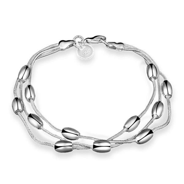 Braccialetti a catena d'argento Vendita calda Link Catenacci Oliva Bracciale stile polsino per le donne ragazza uomini regalo gioielli moda all'ingrosso