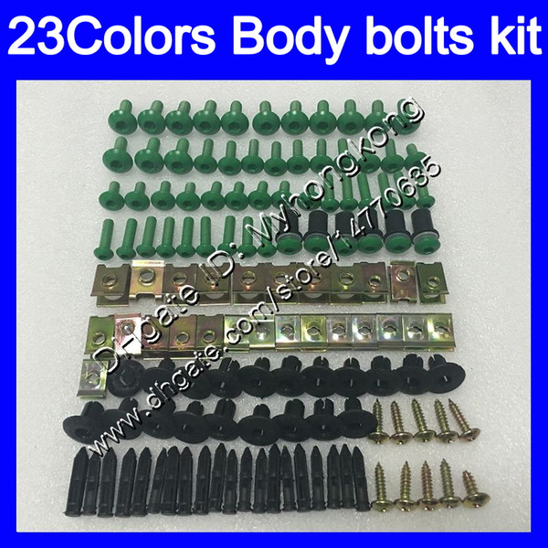 Fairing bolts full screw kit For KAWASAKI NINJA ZX10R 12 13 14 15 ZX 10R ZX-10R 2012 2013 2014 2015 Body Nuts screws nut bolt kit 25Colors