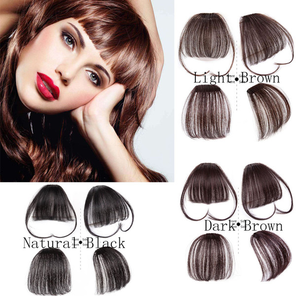 best selling Women Clip In Bnags Clip On Bangs Neat Front Fringe Bangs 100% Real Natural Human Hair Extension Hand Tied