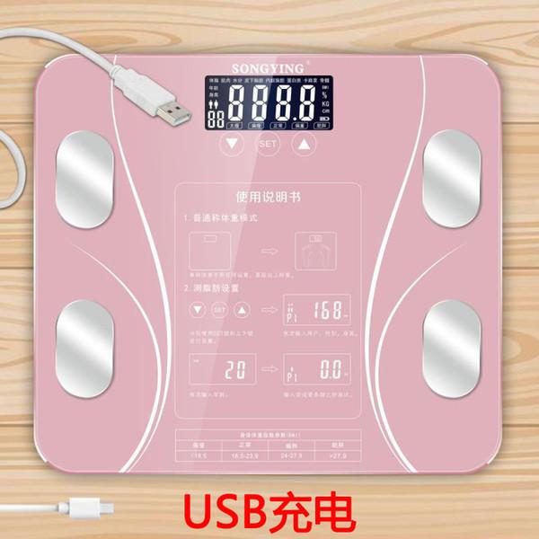 Usb cobrindo corpo balança eletrônica casa balança eletrônica escala de peso corporal de gordura saúde precisa disse