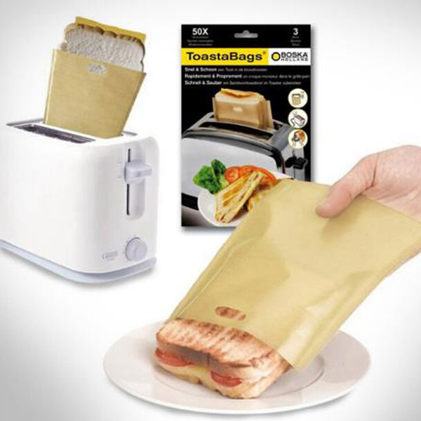 New Reusable Non-toxic Teflon Toaster Bags Grilling Bag Microwave Oven Bag Non-stick Toast Toastabags Toasted Sandwich Bags