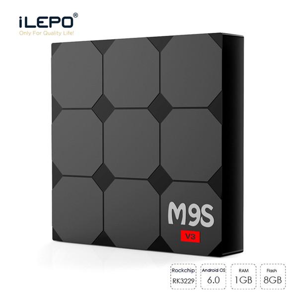 M9S V3 Smart Android 6.0 TV Box RK3229 Quad Core 1GB 8GB Reproductor 17.3 WIFI 4k Reproductor multimedia de transmisión