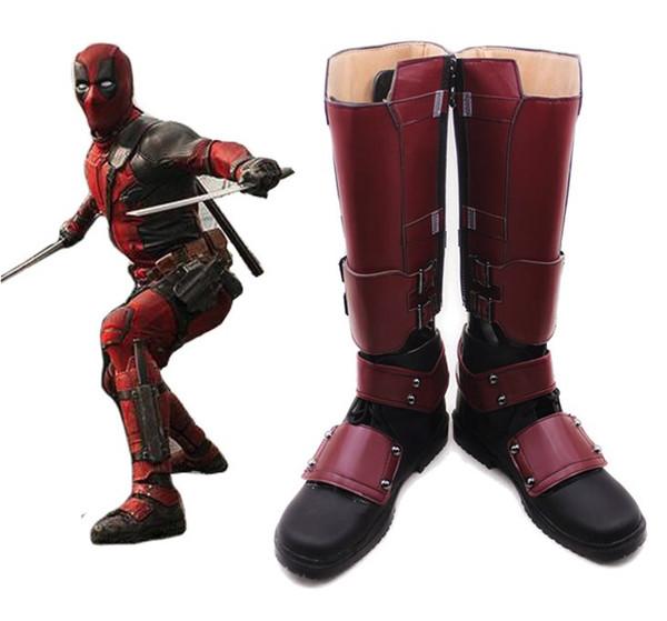 Deadpool Cosplay Boots Shoes Superhero Helloween Handcrafted