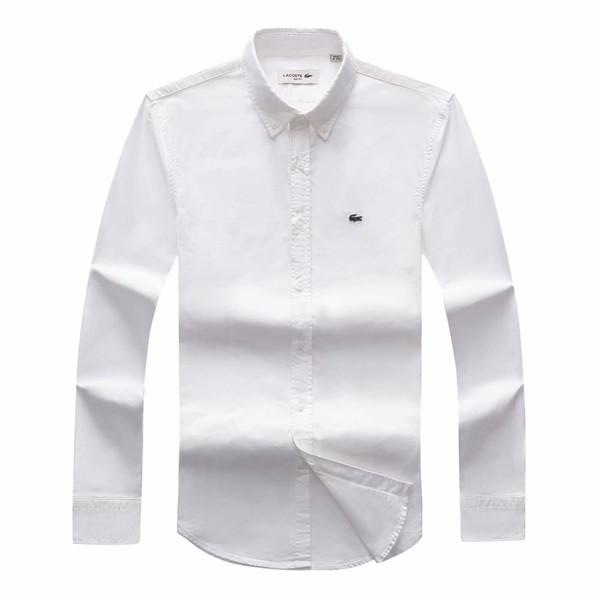 انخفاض الشحن 2018 19 الخريف الرجال بأكمام طويلة صالح سليم قمصان رجالية ماركة بولو قمصان الموضة 100 ٪ أكسفورد عارضة قميص صغير حصان الملابس