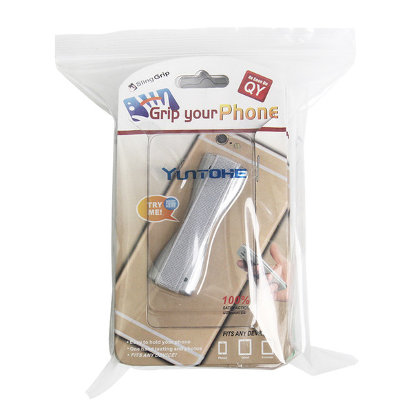 Durable Universal Dedo Corda Elástica Telefone Titular Estilingue de Plástico Aperto Anti Slip Suporte para Tablet Celular 200 pçs / lote