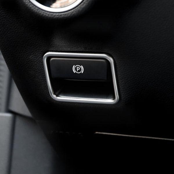 Ajuste de la cubierta de la decoración del marco del freno de mano electrónico del acero inoxidable para la clase de Mercedes Benz CLA GLA GLE GLS A / B