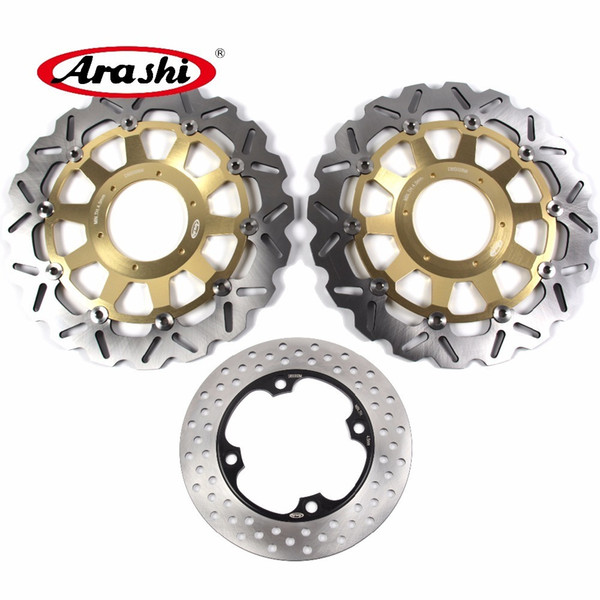 ARASHI For HONDA CBR954RR 2002 2003 Front Rear Brake Disc Rotors Disk Kit CBR 954 RR CBR954 954RR 02 03