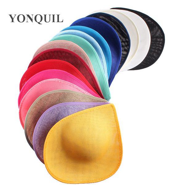 30CM heart shape Fascinator Base 3colors Imitation Sinamay hat bridal wedding hair accessories DIY Royal ascot hat party headwear material