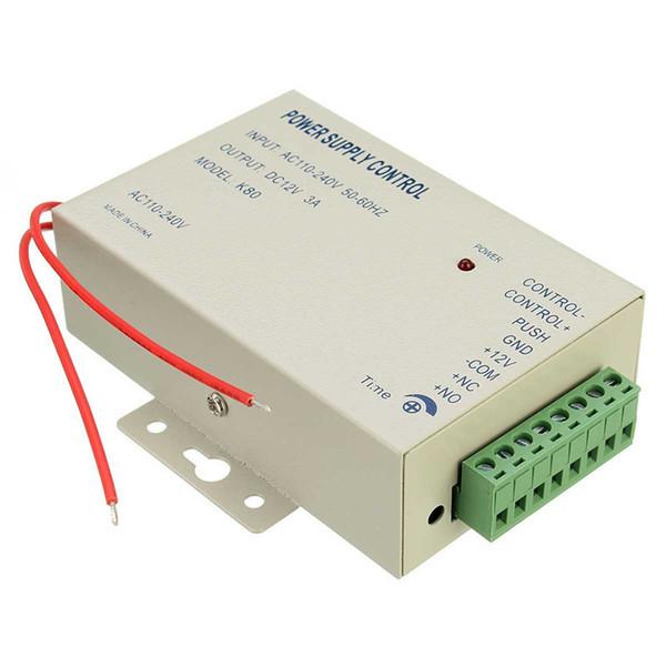 CDT alta qualidade K80 controle de fornecimento de Energia 12 V DC 3A AC Porta Sistema de Controle de Acesso Sistemas de Controle de Acesso 110-240 V