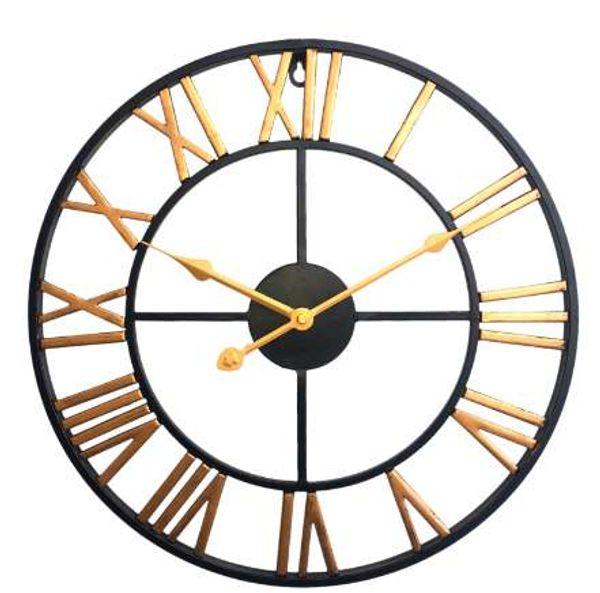 New Arrival Wall Clock Quartz Creative Design Retro Iron Art Clock Three-Dimensional Roman Numeral Silent Wall Clocks Home Decor