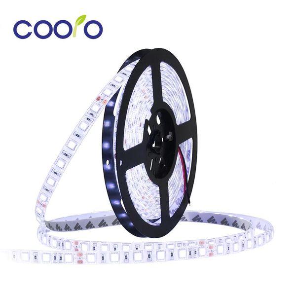 DC24V Su Geçirmez LED Şerit 5050 fiexible ışık 60Led / m, 5 m / grup, Beyaz, Sıcak beyaz, Kırmızı, Yeşil, Mavi, Sarı, RGB, Ücretsiz kargo