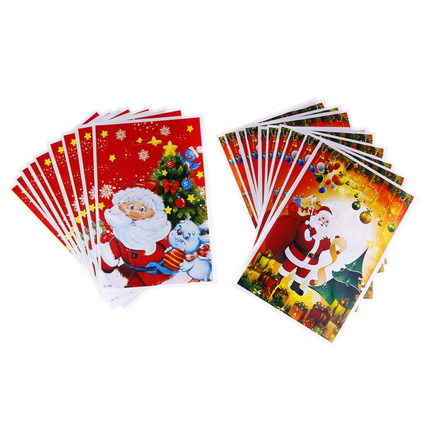 10pcs Christmas Cookie Packaging Cute Cartoon Gifts Bags Self-adhesive Plastic Bags For Biscuits Birthday Candy Cake Package