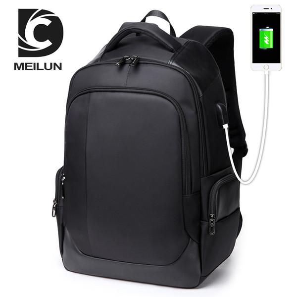 New Oxford Swiss Backpack USB charging 17 Inch Laptop Men Waterproof Travel Rucksack Female Vintage School Bag bagpack