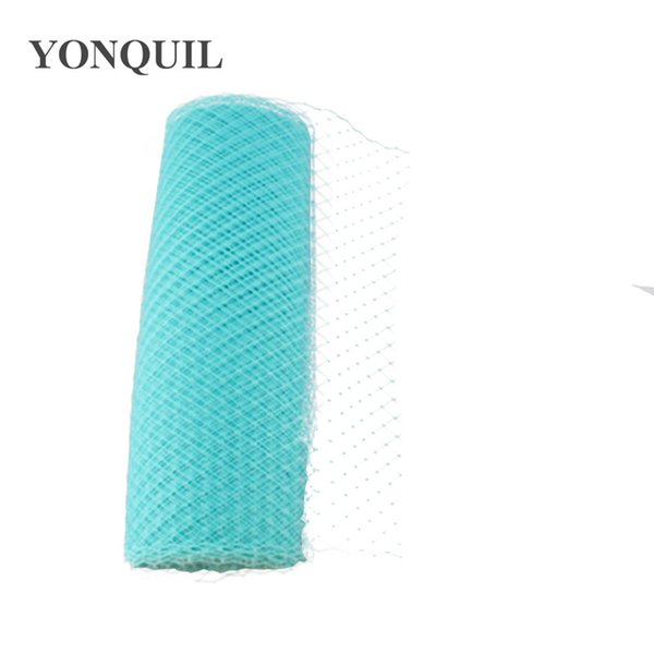 "Cyan Birdcage Veils 10""(25cm) For women Millinery Hat Mesh Veil fascinator nettings material DIY Hair accessories 10yard/lot Free ship"