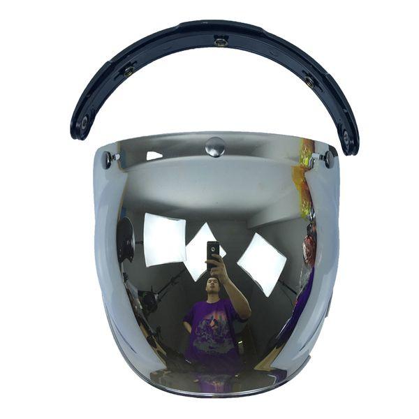 bubble Visier Qualität offenes Gesicht Motorradhelm Visier 10 Farbe verfügbar Vintage Helm Windschutzscheibe Schild uni Größe
