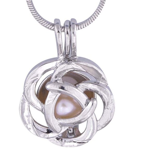 Lovely cage pendants For Women Ball Type Antique Silver Charm Women Wedding Mother's Day Gift P11