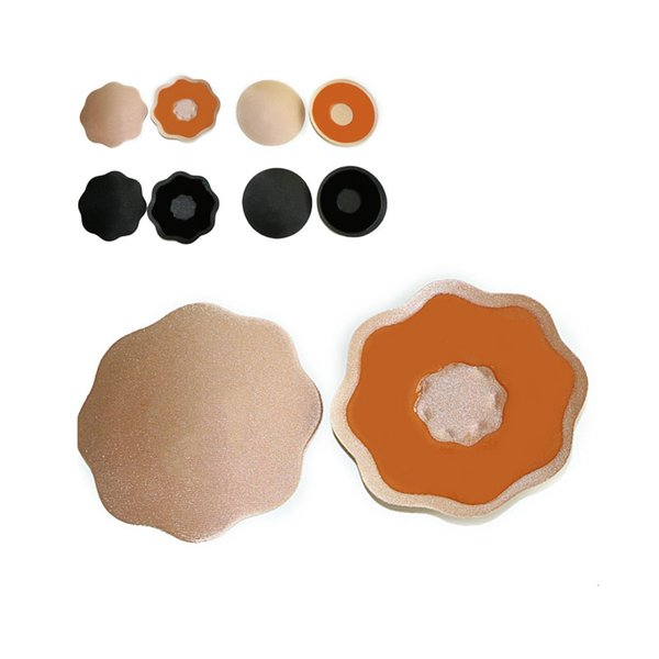 2pcs 1pair Reusable Self Adhesive Breast Petal Nipple Cover Invisible Intimates Sexy Silicone Bra Breast Chest Pasties Stickers
