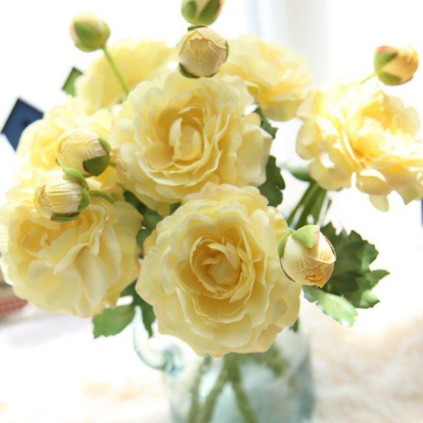 Lotus tea rose Ceremonia de la boda Artificial Articulos Decoración para el hogar decorar Flores de seda