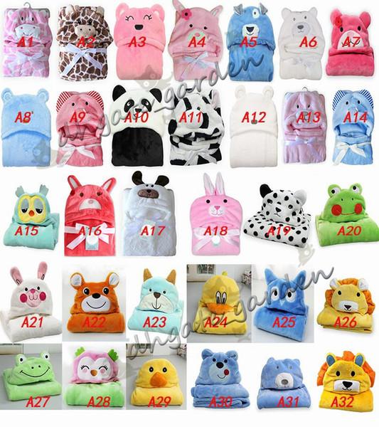 top popular 32 styles 3D Newborn Baby Swaddling blanket cartoon Flannel Hooded blankets Animal bat Outer cloak infant Bathrobe towel nap carpet 2019