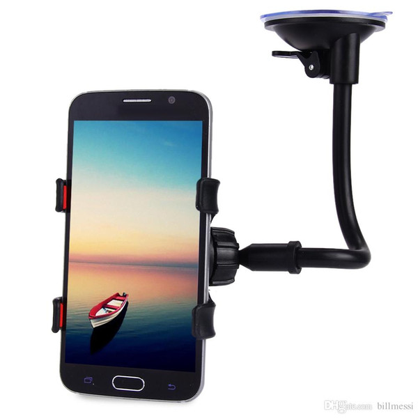 Universal Long Arm 360 Degrees Rotation Windshield Dashboard Car Mount Holder Cradle System Car Mount Holder for iPhone 7 7Plus 6 5S 4 +B