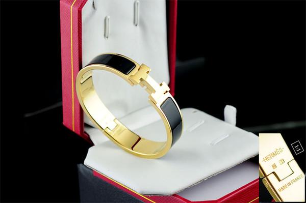 2019 Factory Price Top Quality Celebrity Design Letter Metal Belt Bracelet Fashion Letter Metal Buckle Bracelets With Box