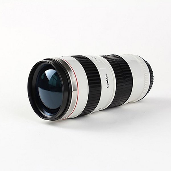 Camera Lens Mug 440ml New Fashion Creative Stainless Steel Tumbler Hot 70-200 Lens Thermo Mugs For Coffee Cups