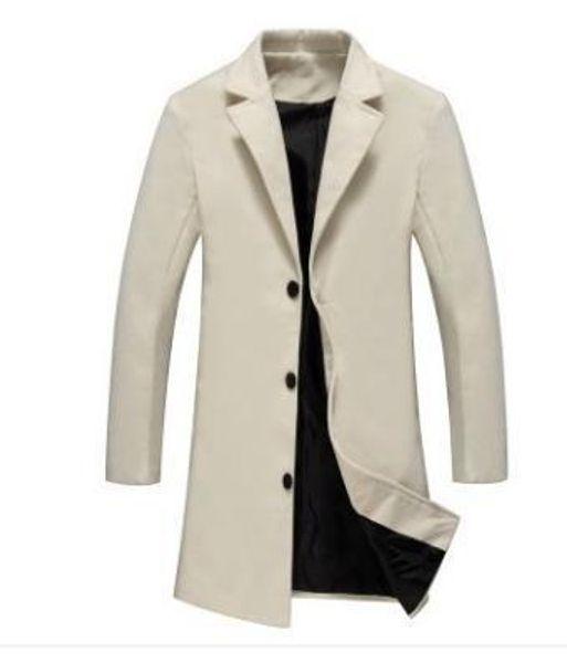 Drop Shipping New Arrival Wool & Blends Suit Design Wool Coat Men's Casual Trench Coat Design Slim Fit Office Suit Jackets Coat