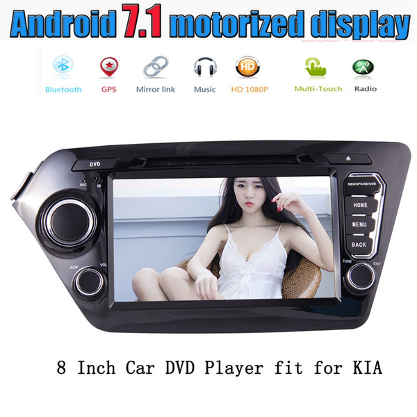 EinCar Android 7.1 Quad Core 8'' Car Stereo Radio car DVD Player Headunit for KIA K2 2011-2012 GPS Navigation FM RDS Receiver