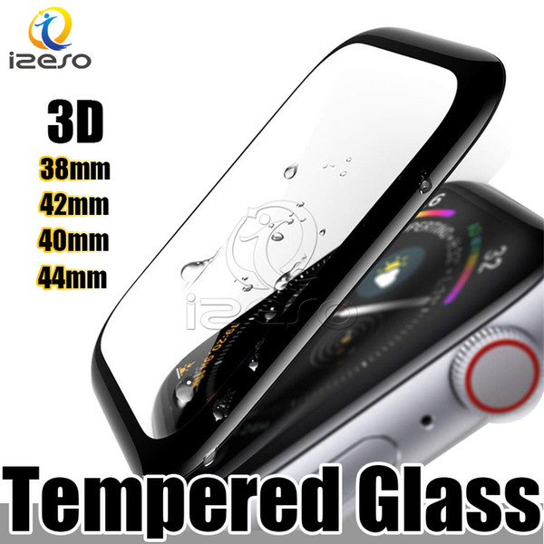 For Apple Watch 4 3D Full Coverage Tempered Glass Screen Protector 44mm 40mm 42mm 38mm Anti-Scratch Bubble-Free For iWatch Series 1 2 3