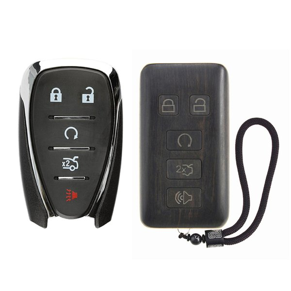 Keyless Entry Remote Control Refit Rosewood Car Key Fob Shell Replacement  For Chevrolet Camaro Cruze Malibu Spark On Tv Remote Player Remote From