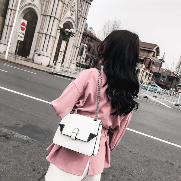 Dropshipping Women Bag Brand Female Handbag High Quality PU Leather Shoulder Bag Fashion Chain White And Black Crossbody Bag D18102906