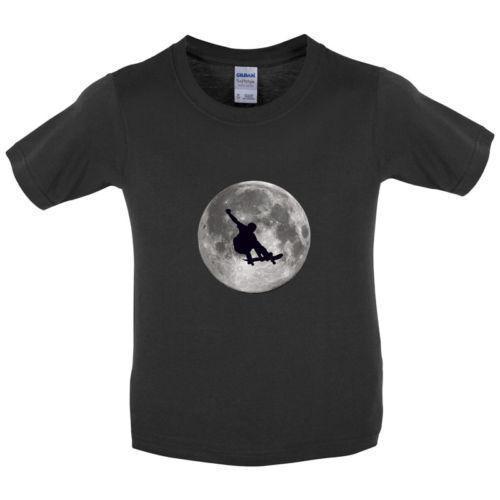 SkateBoarder Moon - Kids / Childrens T-Shirt - Skateboarding - Skateboard