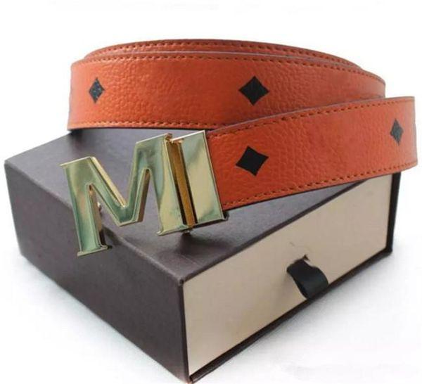 2017 men's M buckle Fashion brand Belts High Quality Designer Luxury Belt For Men And Women Genuine Leather Belt Gold Silver black Buck