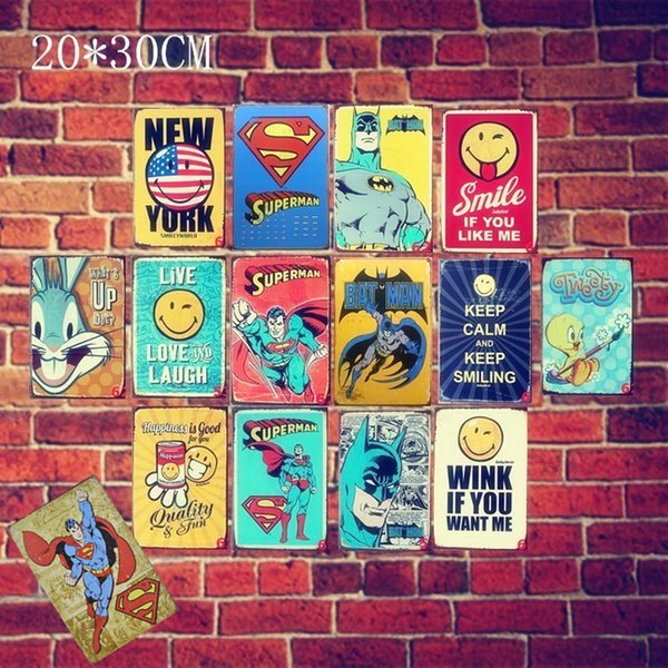 23 Estilos Película de Marvel Superhéroes Vintage Home Decor Cartel de chapa Bar Pub Signo de Metal Decorativo Placa de Metal Retro Pintura Placa de Metal 20 unids