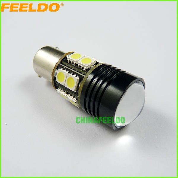 top popular FEELDO 2PCS Car White High Power BA15S 1156 12W 13-LED 12V LED Reverse Lamp Bulb Car Brake Backup Light #2965 2019