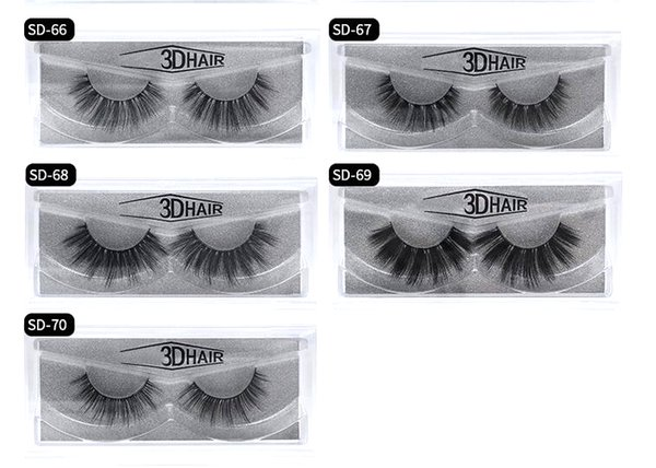 Hot sale 11 styles Selling 1pair/lot 100% Real Siberian 3D Mink Full Strip False Eyelash Long Individual Eyelashes Mink Lashes Extension